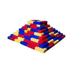 Kit Brick-Size Big Plastic 137pçs - Ranni-Play